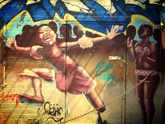 Graffiti Dance (See El Photo) Tags: california ca door city blue red urban 15fav music favorite usa brown black color colour cute girl smile face cali wall illustration digital fun outside outdoors happy graffiti dance kid cool stem hands colorful aqua paint colore tits child dress purple dancing legs little boobs grafiti character painted tag afro graf young entrance jazz tagged urbanart badge um grin locks spraypaint fav graff cleavage stomp clap couleur goodtimes latch grafite jazzhands faved fehr girlsonwalls dronknob