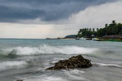 Slow Motion (Eddie Liku) Tags: ocean sea panorama seascape beach nature beautiful rock landscape sand blueskies maluku alam ambon santai latuhalat