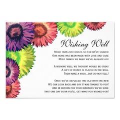 Sassy Spring Flowers Modern Wishing Well Card (mispope_frannis) Tags: flowers modern spring sassy well card wishing