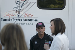 """FDNY Battalion Commander John LaBarbera at the Stephen Siller Tunnel to Towers Foundation mobile exhibit Memorial Escort arrival at the Gerald R. Ford Presidential Museum • <a style=""""font-size:0.8em;"""" href=""""http://www.flickr.com/photos/55149102@N08/15080191999/"""" target=""""_blank"""">View on Flickr</a>"""