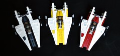 Rainbow Black, Yellow, Red (Veynom) Tags: starwars fighter lego awing