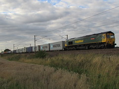 Freightliner Intermodal (66534) (Gary Chatterton 3 million Views Thank You All) Tags: train flickr rail railway trains container exploreinterestingness freighttrains railways eastcoastmainline freightliner maersk intermodal 66534