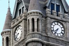 Seven Thirty Five (Kooklamou - MA., USA) Tags: wood stone cityhall clocktower slate rg holyokema