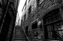 newcastle-1-120914 (Snowpetrel Photography) Tags: autumn blackandwhite monochrome architecture stairs buildings newcastle cityscapes smcpda15mmf40edal pentaxk5