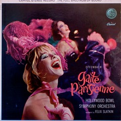 Gaite Parisienne  Hollywood Bowl Symphony Orchestra (johnpurlia) Tags: feathers capitolrecords redlipstick vintagevinyl offenbach vintagerecord vintagelp vintagealbumcover hollywoodbowlsymphony