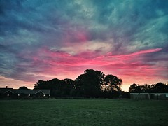 Pitch dark (Мaistora) Tags: uk pink blue school trees houses light sunset england sky orange sun color colour green field weather silhouette playground mobile skyline night clouds contrast buildings reading evening football exposure phone cloudy britain twyford sony lawn meadows cellphone structure cricket smartphone filter saturation pitch rays colourful process noise iq drama vignetting berkshire effect z1 vignette postprocess android app edit artefact wokingham thamesvalley playfield charvil maistora vsco xperia snapseed yahoo:yourpictures=weather vscocam