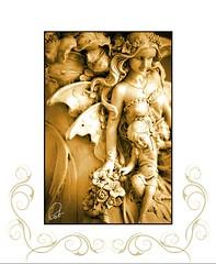 serie decretos (patyartphoto) Tags: beauty angel angeles escultura bella belleza hada relieve sepiua