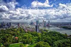 Summer (Smo_Q) Tags: summer netherlands clouds rotterdam nederland journey paysbas euromast erasmusbrug niederlande オランダ nieuwemaas erasmusbridge 荷兰 holandia paísesbajos paesibassi 네덜란드 pentaxk5