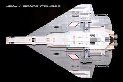 Heavy Space Cruiser - Bottom View (tastenmann77) Tags: lego space spaceship cruiser