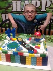Lego cake by Sylvia,North Umberland Cnty, PA, www.birthdaycakes4free.com