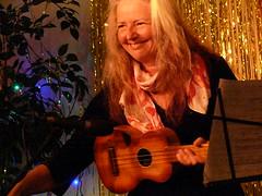 Mary Martin, the host of Frank's Ukulele Bash 2014 080 (wildukuleleman) Tags: mary martin franks ukulele bash 2014 provincetown massachusetts womr franksukulelebash2014 wildukuleleman