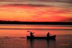 2014 Sep 12 Elgin Heritage 3231 (digitalmarbles) Tags: sunset canada clouds river bc britishcolumbia canoe lowermainland surreybc