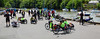 Recumbents are taking over (beqi) Tags: panorama bike bicycle edinburgh recumbent photoshoppery cramond 2015 edinburghfestivalofcycling