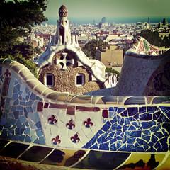 Park Gell (ixos) Tags: barcelone espagne spain colors couleurs architecture parkgell gaudi ixos catalogne barcelona vintage square carr art