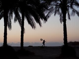 Sunrise fisherman