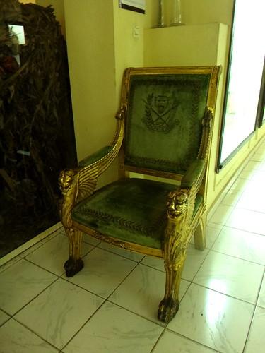 Uno de los tronos de Mobutu; museo Nacional.   Kinshasa. RD Congo