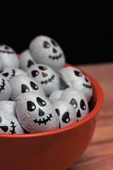 Candy Skulls (catherine4077) Tags: candy chocolate halloween scary orange bowl