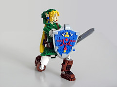 Link shielding (NKubate) Tags: lego ideas link zelda nintendo nkubate hero mastersword