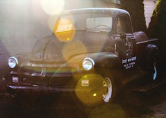 lurking... (Stu Bo) Tags: hidden truck backyard alley vintage reflections retro oldschool sbimageworks shadows sunlight flare whereabouts lostandfound light dark beautiful restoremeplease outdoor