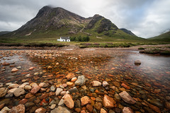 Perfecting isolation (Pete Rowbottom, Wigan, UK) Tags: glencoe cottage glencoecottage scotland highlands highlandsofscotland river rivercoupall mountains remote remotescotland rocks reflection water landscape landscapescotland clouds cloudy leefilters lonely lonehouse duartcottage moody lochaber peterowbottom wideangle perspective nikond750 dramatic stobdearg scottishmountains uk uklandscape earlymorning