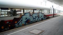 Graffiti (Honig&Teer) Tags: graffiti honigteer train treno traingraffiti trainart railroadgraffiti spraycanart sport steel db deutschebahn aerosolart urbanart eisenbahngraffiti ice