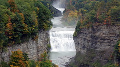 Middle Falls, Genesee River, Letchworth State Park, New York (alex_7719) Tags: water waterfall trees river geneseeriver newyorkstate letchworthstatepark middlefalls usa landscape