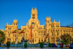 Madrid City Hall (Pedro Otones) Tags: commons madrid spain pride flag ayuntamiento cibeles