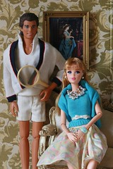 Mummy's Pearls and Daddy's Hope for a Son in-Law (moogirl2) Tags: ken barbie diorama kenfashions barbiefashions integrity fashionista jasonwu vintagekenoutfit tennis miniatures