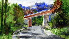 route 41 (Frdric Glorieux) Tags: frdricglorieux france road route peinture painting a4 acryl