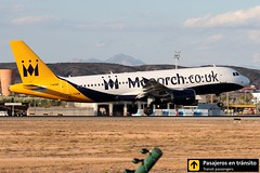 Airbus A320 Monarch (Ana & Juan) Tags: airplane airplanes aircraft aviation airport aviones airbus aviacin a320 monarch monarchairlines landing sunset alicante alc leal spotting spotters spotter planes canon closeup