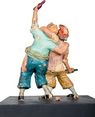 1960s Pirates of the Caribbean maquette - Two Drunk Pirates - back (Tom Simpson) Tags: piratesofthecaribbean disney disneyland 1960s vintage maquette sculpture pirate pirates imagineering vintagedisney vintagedisneyland