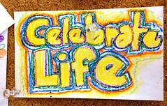 Celebrate Life (e r j k . a m e r j k a) Tags: pennsylvania robinson card handmade handwritten drawing whimsy celebrate life erjkprunczyk lincolnhighway