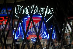 We gonna rock down to Milwaukee Ave. (Cragin Spring) Tags: city chicago chicagoillinois chicagoil illinois il midwest urban unitedstates usa unitedstatesofamerica milwaukeeave northside neon neonsign beer beersign oldstyle oldstylebeer piwo bier jeffersonpark