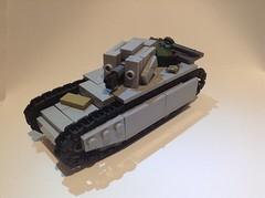 OT[L] vz 36[C] (||Apex||) Tags: lego tank ww1 ww2 gascan bley grey tractor yugoslavian military russian german gun turret