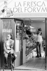 La Fresca del Forum (Luis Alvarez Marra) Tags: bw black white spain catalonia tarragona city outdoor nikon d7000 35mm prime monochrome soul collecting candid decisive moment tog street streettog light shadows old young girl senior