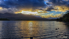 Lough Leane (Mick @ MBE) Tags: loughleane kerry cokerry lake sunset reflection mbe ireland water 2010 clouds nik november autumn leane park demense muckross panoramio colorefexpro4