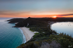 Tomaree Head (FPL_2015) Tags: tomareehead nelsonbay nsw australia landscape sunset peak beach water seascape canon5dsr canon1635f4lis gnd09 lee polarizer