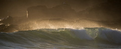 Dawn spray back (OzzRod) Tags: pentax k1 sigmadg120400mmf4556apohsm sigmaapoteleconverter2xexdg ocean sea waves surf surge breakers spay dawn headland beach onetree cuttagee intothesun pentaxart