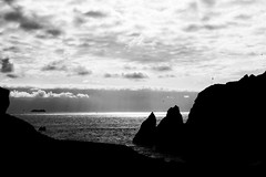 KLIS3613_S (Konrad Lembcke) Tags: hafnir iceland island black white monochrome landscape bw atlantic ocean sea ship ferry travel landschaft minimal abstract fuji x nature simple