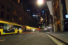 Queen Victoria Building Bus terminal (night shot) Sydney CBD NSW November 2016 (nicephotog) Tags: qvb building queen victoria sandstone 19th century architecture stain glass bus terminal transport retail shopping centre sydney nsw night city cityscape
