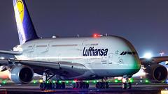 Lufthansa Airbus A380 D-AIME (Ewout Pahud de Mortanges) Tags: aviation airbus 380800 aircraft night nightshot whale outdoor canon germany frankfurt airport jet jetliner world worldwide spotting planes planespotting airplane