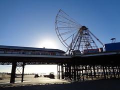 Half a Big Wheel Silhouette in Blackpool (j.a.sanderson) Tags: half big wheel silhouette blackpool
