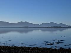 6279 Blue mountains of the Lleyn Peninsular (Andy - Busyyyyyyyyy) Tags: 20161129 bbb fff forydbay lleynpeninsular lll mist mmm mountain reflections water