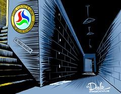 1116 public business cartoon (DSL art and photos) Tags: editorialcartoon donlee eriecountyohio commissioners monaghan ferrell closeddoors sandusky secret publicinformation
