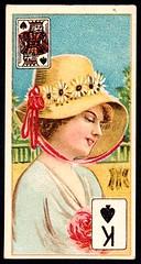 Cigarette Card - King of Spades (cigcardpix) Tags: cigarettecards advertising ephemera vintage beauty playingcard