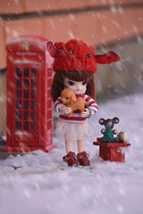 Robin - Little Dal Sona (Sophie's Pullips) Tags: pullip doll dal byul little mini tiny small cute song himitsu chubby anime handmade miniature winter snow christmas new year toy