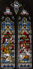 Photo of Threekingham, St Peter's church window