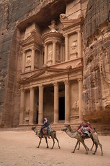 Camels Arrive at Al-Khazneh (andryn2006) Tags: jordan nabatanean petra unescoheritage maangovernorate alkhazneh treasury camel bedouin architecture