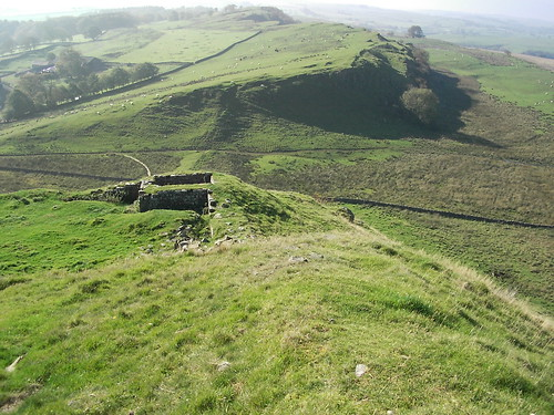 Hadrian's Wall & turret 44B. Walltown Crags.