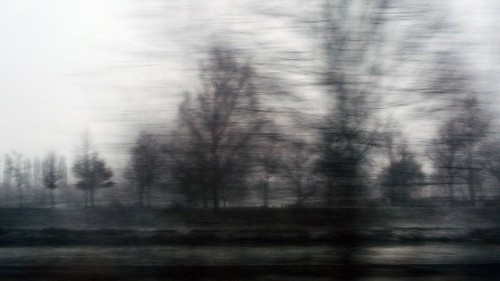 8 - Blurry snowy landscape
